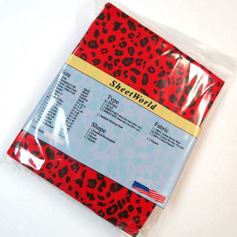 Red Leopard Pack N Play Sheet - Fits Graco - 27 x 39