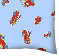 Percale Pillow Case - Fire Engines Blue