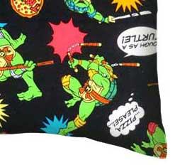 Percale Pillow Case - Ninja Turtles Black