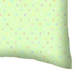 Percale Pillow Case - Pastel Colorful Pindots Mint Woven
