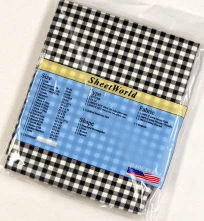 Black Gingham Check Cotton Travel Lite Playard Sheet - Fits BabyBjorn 24 x 42