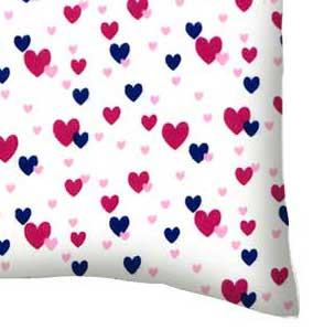 Flannel Pillow Case - Hearts