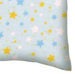 Flannel Pillow Case - Stars Blue