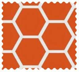 Burnt Orange Honeycomb Portable Mini Crib Sheets