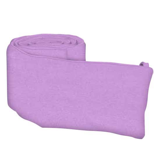 Solid Lilac Cotton Woven Crib Bumper