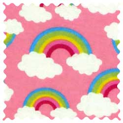 Rainbows Pink Fabric