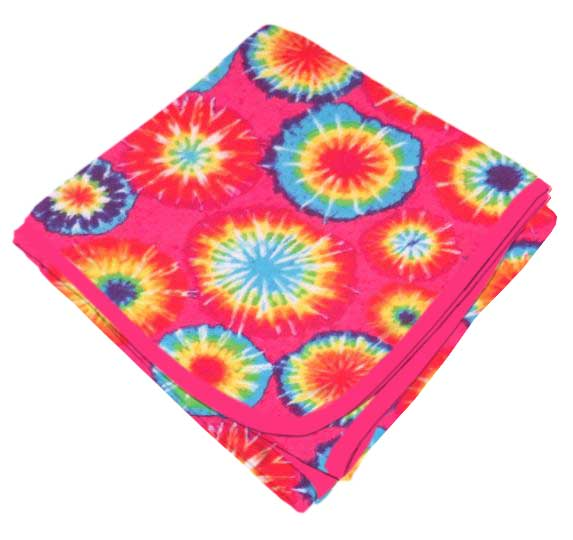Tie Dye Receiving Blanket