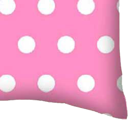 Percale Pillow Case - Polka Dots Pink