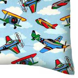 Percale Pillow Case - Kiddie Airplanes
