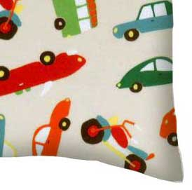 Flannel Pillow Case - Vehicles Cream