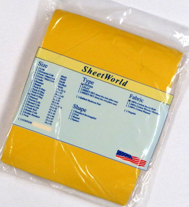 Bright Yellow Cotton Jersey Fitted Square Playard Sheet Fits Graco TotBloc 36 x 36
