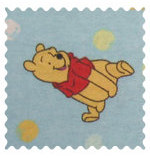 Fabric Shop - Pooh & Friends Blue Fabric - Yard - 100% Cotton Flannel - Character Prints Fabric Shop