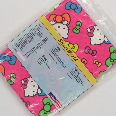 Hello Kitty FLAT Crib Sheet