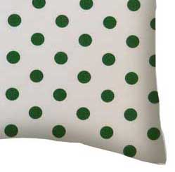 Percale Pillow Case - Hunter Green Polka Dots
