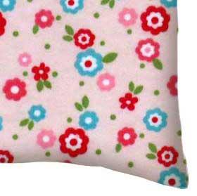 Flannel Pillow Case - Mini Floral Pink