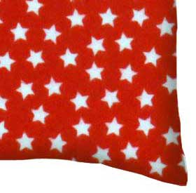 Flannel Pillow Case - Stars Red