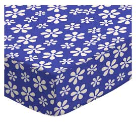 100% Cotton Woven - Primary Florals Bassinet Sheets
