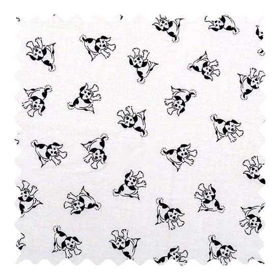 Black Doggies Fabric - 100% Cotton - 20 x 42 inches