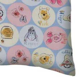 Percale Pillow Case - Pooh & Friends Circles