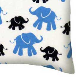 Flannel Pillow Case - Elephants