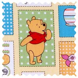Winnie The Pooh Patch Fabric