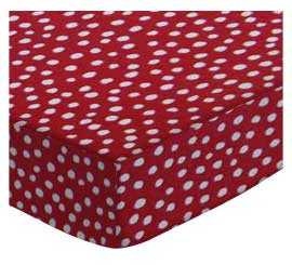 100% Cotton Woven - Fun Dots Portable / Mini Crib Sheets