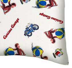 Percale Pillow Case - Curious George Beach Balls