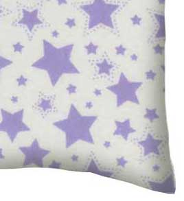 Flannel Pillow Case - Lavender Stars