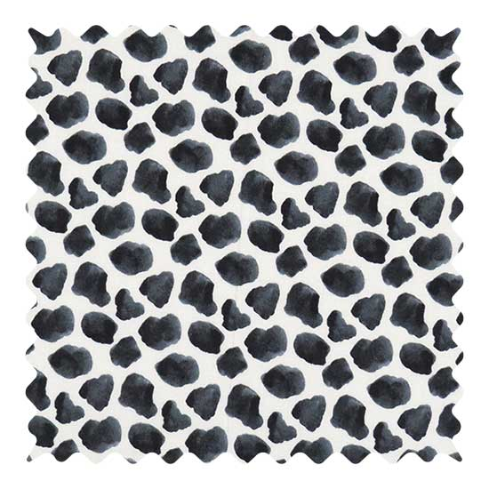 Black Cow Fabric - 100% Cotton - 10 x 42 inches