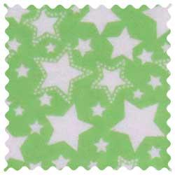 Stars Green Fabric