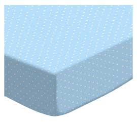 Pastel Blue Pindots Woven