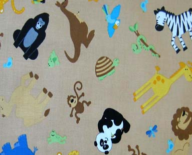 Basket - Jungle Animals - Fitted - 100% Cotton Percale - Cuddlies Basket Sheets