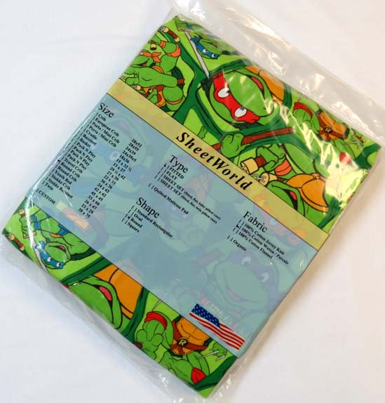 Ninja Turtles Round Crib Sheet