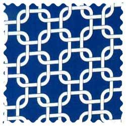 Royal Blue Links Fabric
