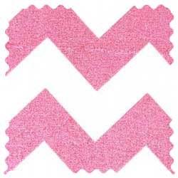 Sparkly Pink Chevron Fabric