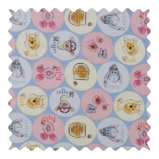 Pooh Fabric - 100% Cotton - 22 x 42 inches