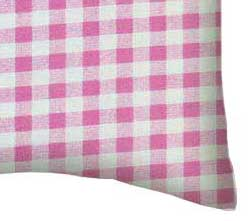Percale Pillow Case - Pink Gingham Check