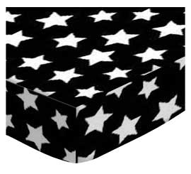 Primary Stars White On Black Woven