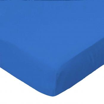 Square Playard (Graco) - Royal Blue Woven - Fitted - 100% Cotton Percale - Solids Square Sheets