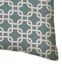 Percale Pillow Case - Seafoam Blue Links