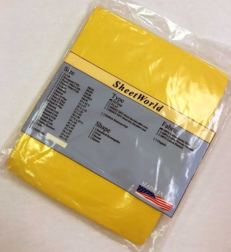 Solid Lemon Yellow Cotton Jersey Fitted Square Playard Sheet Fits Graco TotBloc 36 x 36