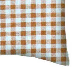 Percale Pillow Case - Beige Gingham Check
