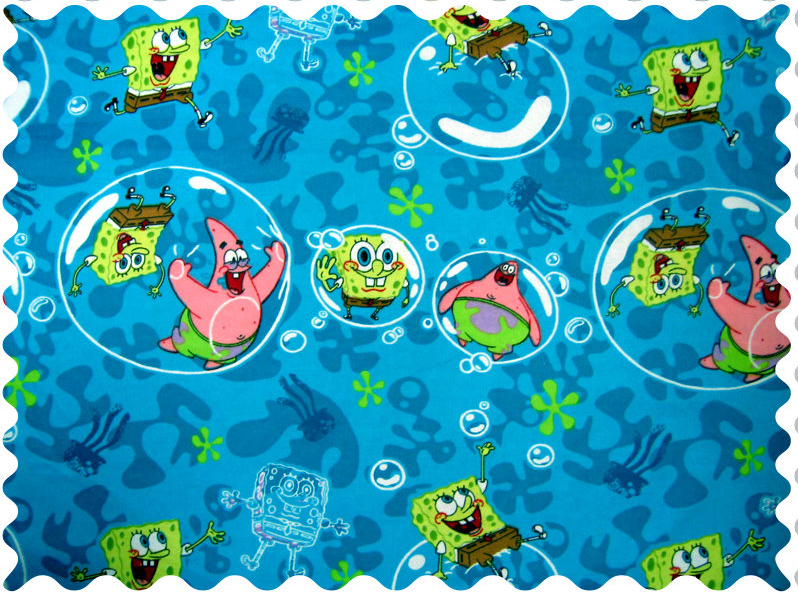 Sponge Bob Fabric - 100% Cotton Flannel - 23 x 42 inches
