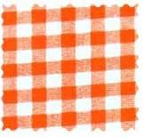 Orange Gingham Check Fabric