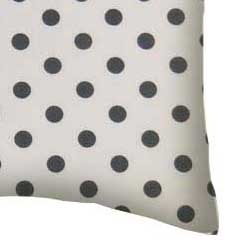 Percale Pillow Case - Grey Polka Dots