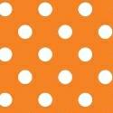 Portable / Mini Crib - Primary Polka Dots Orange Woven - Matching Bumper - 100% Cotton Woven - Primary Polka Dots Portable / Mini Crib Sheets