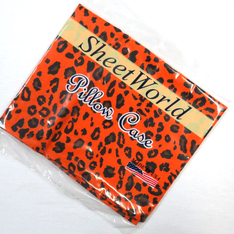Orange Leopard Cotton Baby Pillow Case