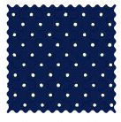 Fabric Shop - Primary Pindots Navy Woven Fabric - Yard - 100% Cotton Woven - Primary Polka Dots Fabric Shop
