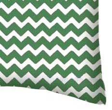 Percale Pillow Case - Forest Green Chevron Zigzag