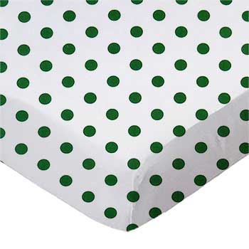 Hunter Green Polka Dots